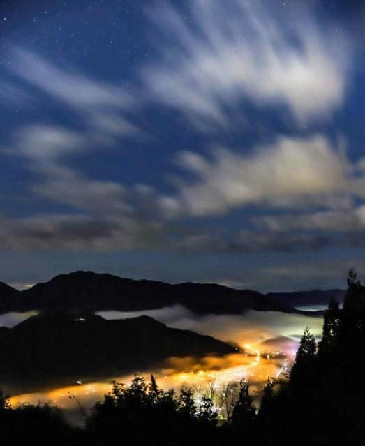 竹田城跡 夜
