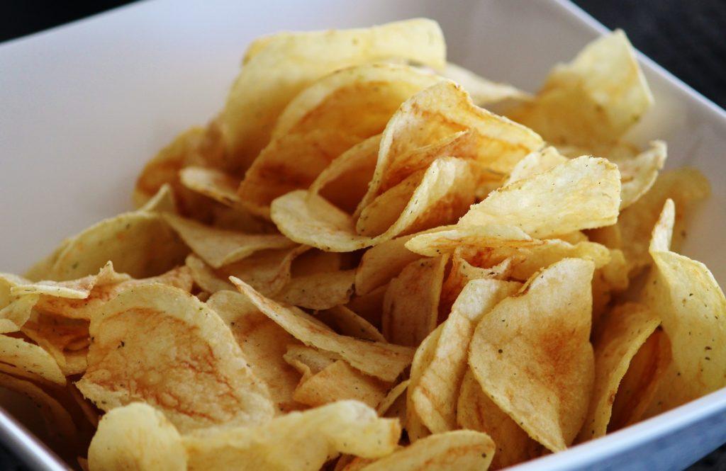 機内食 ポテトチップス